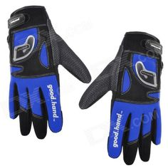 Good Hand Cycling Bicycle Nylon Full Finger Glove - Blue   Black (Size XL) Price: $29.10