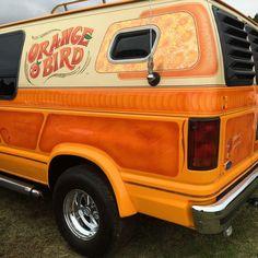 """""""Orange Bird"""" custom van"""