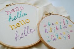 4 Decorative Stitches for Hand-Embroidered Letters | Welcome to the Craftsy Blog! | Bloglovin'