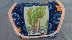 DIY Bicycle Bag Sewing Patterns Free, Embroidery Patterns, National Bike Month, Hardtail Mountain Bike, Brother Sewing Machines, Bicycle Bag, Bike Design, Purses And Bags, Sewing Projects
