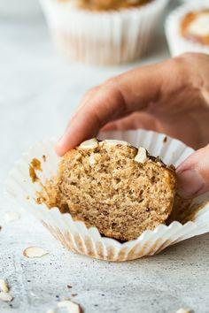 vegan banana bread muffins cross section