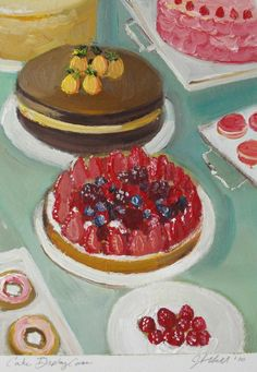 Cake Display Case by Janet Hill http://es.pinterest.com/annamariatanko/art/