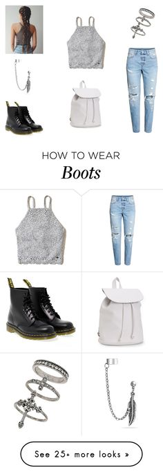 """""""untitled #55"""" by yeepp on Polyvore featuring Hollister Co., Dr. Martens, Aéropostale, Miss Selfridge and Bling Jewelry"""