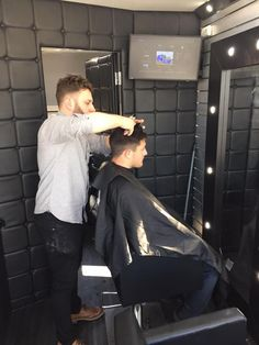 Ifor Williams Business inabox mobile barbers shop.