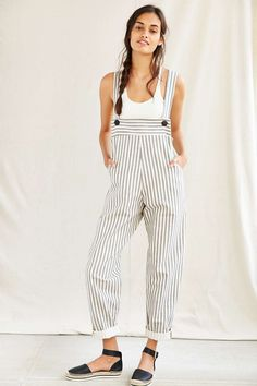 Mixed Business Bib Overall - Urban Outfitters