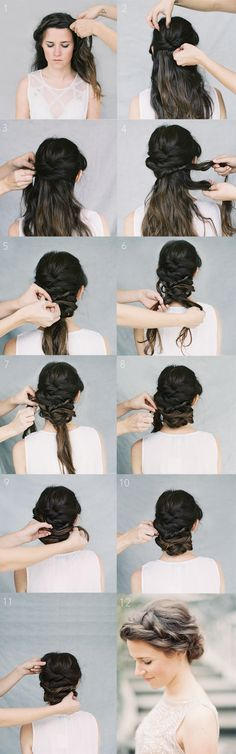 Crown Braid Wedding Hairstyles for Long Hair / Braid Wedding Hairstyles for Medium Hair