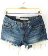 To find out about the Blue Fringe Lace Pockets Denim Shorts at SHEIN, part of our latest Pants ready to shop online today! Women's Dresses, Abercrombie Girls, Shops, Dress To Impress, New Look, Going Out, Womens Fashion, Fashion Trends, Contrast
