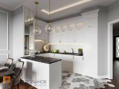 Фото кухня из проекта «Интерьер трехкомнатной квартиры 96 кв.м. в ЖК «Привилегия», стиль нео-классика»