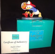 ***SOLD***  Disney RARE - Donald Duck - Mickey's Fire Brigade - Duck! A Fire! WDCC – Piece by Piece Collectibles
