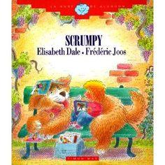 """L'Scrumpy d'Elisabeth Dale. Col. El núvol de cotó, Ed. Timun Mas. """"El gos de Ben Scrumpy és alguna cosa més que un gos; ell és un amic especial a Ben. Quan mor Scrumpy res pot consolar Ben i tot el que fa porta records dolorosos de la diversió que va tenir amb Scrumpy. Llavors un dia un gos anomenat George fa Ben riure de nou i ell decideix que li agradaria un nou cadell."""""""