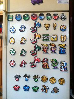 Retro #Gaming Beads Art via Reddit user ShamPow20