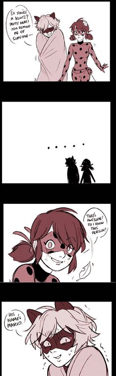 Miraculous comic strip by ceejurs I need context? Catnoir And Ladybug, Best Cartoons Ever, Miraculous Ladybug Fan Art, Ladybug Comics, Cute Comics, Animated Cartoons, Lady Bug, Comic Strips, Fanart