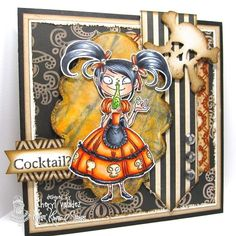 The Ink Trap -image is by Kraftin' Kimmie Stamps and has been colored with Copics.