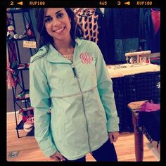 A personal favorite from my Etsy shop https://www.etsy.com/listing/121581981/monogrammed-rain-jacket