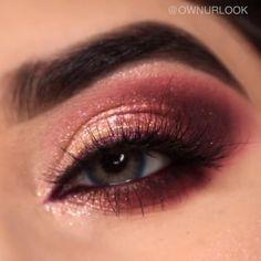 Smoke Eye Makeup, Eye Makeup Steps, Makeup Eye Looks, Glitter Eye Makeup, Eye Makeup Art, Contour Makeup, Eyebrow Makeup, Skin Makeup, Eyeshadow Makeup