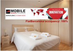 FlatBarcelona is fully booked for the #MWC15! Follow us now for practical information: www.flatbarcelona.net