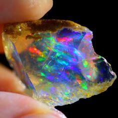 Minerals And Gemstones, Crystals Minerals, Rocks And Minerals, Stones And Crystals, Natural Crystals, Natural Gemstones, Mineralogy, Rough Opal, Rock Collection