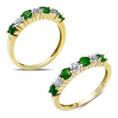 .015cttw with Created Emerald in 10k Yellow Gold Ring - Jewelry Deals 80% OFF + $25 OFF extra discount on purchases $500 & UP ! Enter PINPROMOT coupon at CHECKOUT to get $25 OFF when you place your order @ NissoniJwelry.com