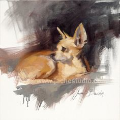 Chihuahua Giclee Print  Custom Pet Portrait by by JacheStudio, $260.00