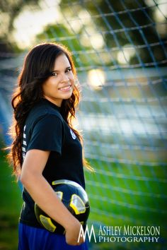 Colorado Senior Portraits | Ashley Mickelson Photography... outdoor photos are amazing and to capture the whole sport theme I love it.