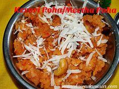 Kesari Poha or Meetha Poha