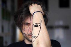 sebastian bieniek shares multiple personalities with fragmented faces