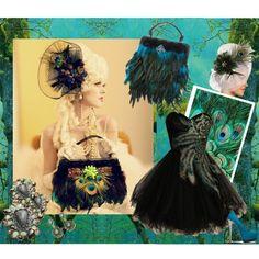 """Untitled #25"" by icjuk on Polyvore Using my ICJUK Handbag and hair fascinator! I LOVE this!"