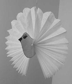 Recette et bricolage de la colombe de Pâques colombe en papier de soie, Gastronomie, recettes de cuisine et traditions en Europe. Information et Tourisme Européen.