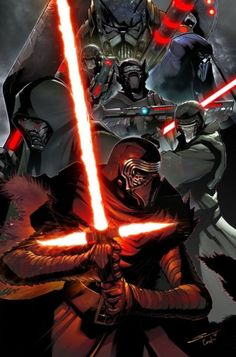 RedSkull's Page Kylo Ren and the Knights of Ren fan art. Can't wait to see them in Star Wars the Rise of Skywalker Star Wars Sith, Star Wars Kylo Ren, Clone Wars, Star Wars Concept Art, Star Wars Fan Art, Cuadros Star Wars, The Dark Side, Knights Of Ren, Star Wars Design
