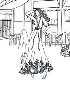 BERNADETTE Fashion Coloring Book Vol2 Classy Casual
