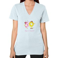 V-Neck (on woman) - Keep In Touch