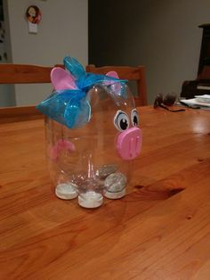 piggy bank from plastic bottles Alphabet Crafts, Vbs Crafts, Easy Diy Crafts, Recycled Crafts, Creative Crafts, Crafts For Kids, Reuse Plastic Bottles, Plastic Bottle Crafts, Recycled Bottles
