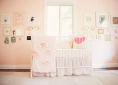 Vintage Blush Nursery...Move Over, Baby Pink. Blushing Pink Nurseries are Taking Over.