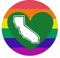 Rainbow's Forever California Heart Decal - pinned by pin4etsy.com
