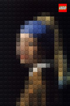 Art recreated with Lego
