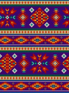 ES-Tucson 450 Beaded Stripe - Purple Fabric by the Yard Cross Stitch Embroidery, Embroidery Patterns, Cross Stitch Patterns, Quilt Patterns, Native American Patterns, Native American Crafts, Fabric Rug, Cotton Quilting Fabric, Tribal Pattern Background