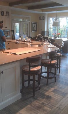 kitchen with large angled island....zones wrong - Kitchens Forum - GardenWeb