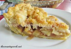 The Country Cook: Butter Crumble Apple Pie & Wham Bam Pie Crust Just Desserts, Delicious Desserts, Yummy Food, Pie Dessert, Dessert Recipes, Best Pie, Apple Pie Recipes, Country Cooking, Snacks
