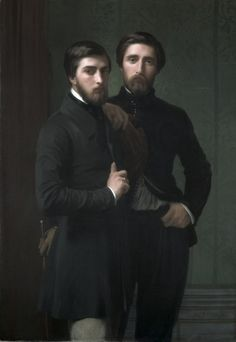 """René-Charles Dassy and his brother Jean-Baptiste-Claude-Amédé Dassy' (1850) Hippolyte Jean Flandrin:"