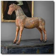 Extraordinary Painted Furniture Ideas For Your Home Swedish Style, Swedish Design, Antique Decor, Antique Toys, Shabby Chic Antiques, Equestrian Decor, Scandinavian Countries, Wooden Horse, Horse Sculpture