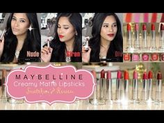 Miss Liz Heart: New Maybelline Color Sensational Creamy Matte Lipstick Swatches & Video Review