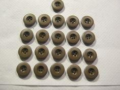 20 Stück Hosenknöpfe 4 loch Braun,durchmesser ca.20 mm,Neu,Lübecker Knopfmanufaktur von Knopfshop auf Etsy