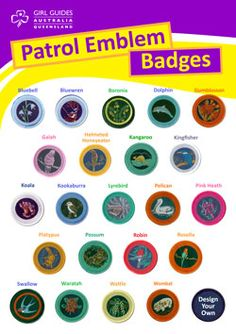 Living by the Guide Law: Australian Girl Guide badges Girl Scout Leader, Girl Scouts, Guide Badges, Girl Guides, Law, Activities, Bird, Games, Craft