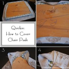 How to cover chair pads and add super easy piping! This is a great tutorial!