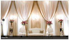 Reception Stage Decor, Wedding Reception Backdrop, Wedding Mandap, Wedding Chairs, Desi Wedding Decor, Wedding Hall Decorations, Tent Decorations, Wedding Ideas, Indian Wedding Stage