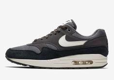 08223eac8001 Nike Air Max 1 in Dark Tones In Suede And Mesh