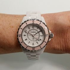 Available in April the new Chanel J12 Soft Rose limited edition #womw #chanel #j12 #baselworld #baselworld2015