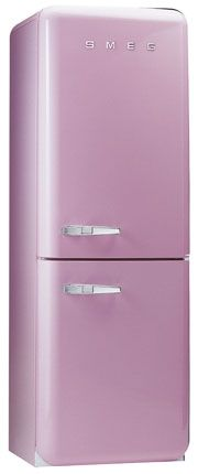 This UK company (Smeg) makes retro kitchen appliances! how cute is this pink fridge? Pink Smeg Fridge, Retro Fridge, Retro Kitchen Appliances, Kitchen Icon, Purple Hues, Shades Of Purple, Lilac, Retro Stove, Romantic Homes
