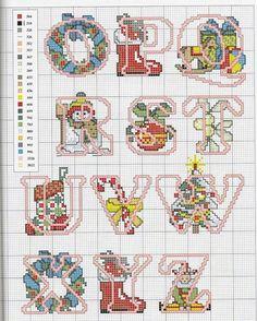 Alfabeto fiori vari a punto croce Cross Stitch Alphabet Patterns, Cross Stitch Letters, Just Cross Stitch, Cross Stitch Flowers, Cross Stitch Charts, Cross Stitch Designs, Stitch Patterns, Cross Stitching, Cross Stitch Embroidery