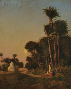 Edwin Lord Weeks (American, 1849-1903) Sundown at the Oasis. | Auction 2896B | Lot 238 | Sold for $4,613